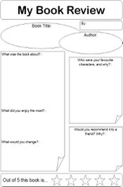 Education World Book Review Template  Book Talks