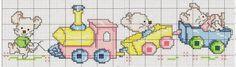Graficos de trenzinhos para bebês. Ponto Cruz infantil
