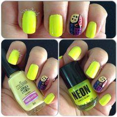 Segunda versão pra nail art do Nino! (o laranja rachou)
