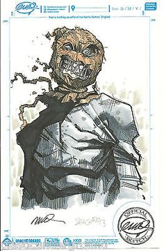 HUMBERTO RAMOS & EDGAR DELGADO DC COMICS COLOR SCARECROW ORIGINAL SKETCH BATMAN