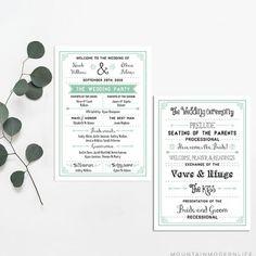 Printable Wedding Program   MountainModernLife.com