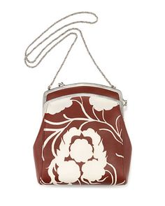 Jarnette Floral-Print Leather Shoulder Bag, Sienna/White by The Row at Bergdorf Goodman.