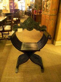 Antique Italian Savanarola Chair | Plantation Antique Galleries
