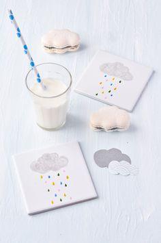 Cloud macarons
