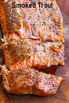 Factors You Need To Give Thought To When Selecting A Saucepan Simple, Easy And Delicious Smoked Trout Recipe That Includes A Course Dry Rub For Both Flavor And Texture. Lake Trout Recipes, Rainbow Trout Recipes, Fish Recipes, Seafood Recipes, Healthy Recipes, Grilled Trout Recipes, Dinner Recipes, Meat Recipes, Fernando Torres