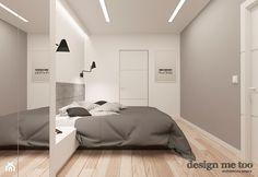 DOM W JÓZEFOSŁAWIU - Średnia sypialnia małżeńska, styl minimalistyczny - zdjęcie od design me too