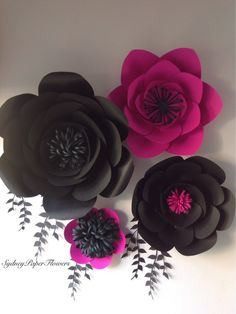 A personal favourite from my Etsy shop https://www.etsy.com/au/listing/243319608/paper-flowers-backdrop-4-black-and-hot