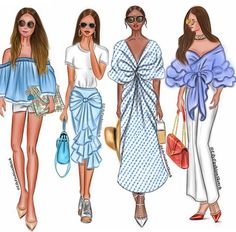 Blue is the warmest color By _________________________ ______________________________ Friends Illustration, Blue Is The Warmest Colour, Bff Drawings, Fashion Artwork, Cute Girl Drawing, Fashion Design Sketches, Drawing Clothes, Warm Colors, Summer Dresses