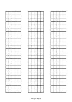 blank neck diagram 06x12 blank fretboard 6 blocks with 12 frets each in 2019 music theory. Black Bedroom Furniture Sets. Home Design Ideas