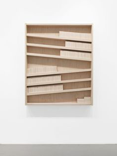 Marc Ganzglass, Untitled (abacus), 2013, wood.