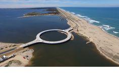Laguna Garzon Bridge, Uruguay- The design allows drivers to slow down and enjoy the view.