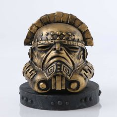 "#StarWarsLegion #art exhibition helmet design ""Ti Que Fortu Juan"" by Stephen Barron. #StarWars by starwars"