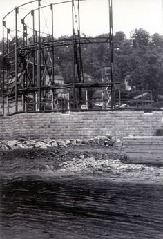 Roxbury Bandshell Under construction in Johnstown PA. Neat image!