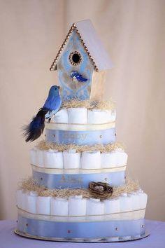 Torta de pañales Bebe