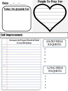 prayer journal template