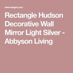 Rectangle Hudson Decorative Wall Mirror Light Silver - Abbyson Living Wall Mirror Online, Mirror With Lights, Mirrors, Wall Decor, Silver, Wall Hanging Decor, Mirror, Wall Decorations, Money