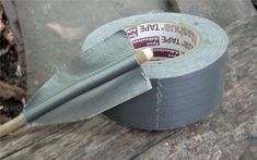 25 Practical Survival Uses For Duct Tape. Arrows and survival skills! Homestead Survival, Wilderness Survival, Survival Tools, Survival Prepping, Zombie Survival Gear, Survival Hacks, Tactical Survival, Survival Fishing, Survival Items