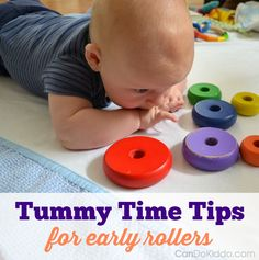 Can I still do Tummy Time once my baby rolls? Yes! Here are simple tips and tricks from a pediatric Occupational Therapist and mommy - CanDo Kiddo