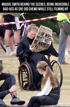 I don't really care one way or another on HP. But Maggie Smith deserves an oscar for her bravery and commitment