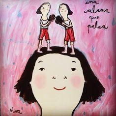 Fighting Head | Una cabeza que pelea. #Painting by Eva Armisen Eva Armisen, Love Art, Seoul, Contemporary Art, Disney Characters, Fictional Characters, Arts And Crafts, Disney Princess, Abstract