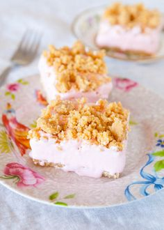 Pink Lemonade Freezer Bars - Substituted the Pink Lemonade with Pineapple Orange Drink Mix and Made a Regular Cake crumble for the Topping.