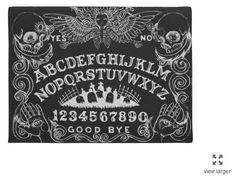 Ouija Board door mat in Black by StuffoftheDead on Etsy https://www.etsy.com/ca/listing/249337649/ouija-board-door-mat-in-black