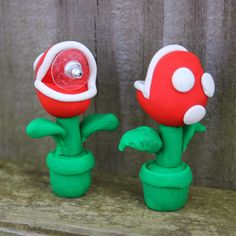Mario Brothers Piranha Plant Earrings! Geekery gifts!