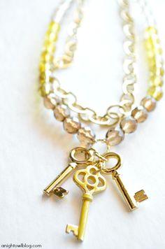 DIY necklace with Martha Stewart Crafts Jewelry from A Night Owl #marthastewartcrafts #12monthsofmartha