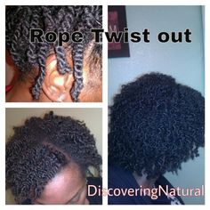 Rope twist out on natural hair