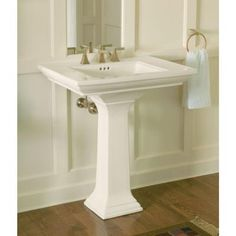 Amazing KOHLER Memoirs Ceramic Pedestal Combo Bathroom Sink With Stately Design In  Biscuit With Overflow Drain