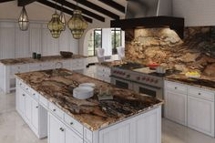 American Kitchen, Marble, Granite, Guidoni, Architectural Interior Design, 3D Perspective. from www.fabricadeimagem.com.br
