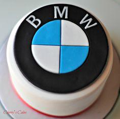 Cherry's Cakes: BMW – – birthdaycakeideas Birthday Cakes For Men, Car Cakes For Men, Sons Birthday, Cakes For Boys, Man Cookies, Cupcake Cookies, Bmw Torte, Rehearsal Dinner Cake, Bmw Cake