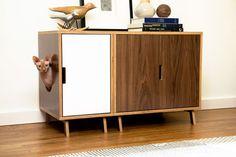 Mid Century Modern Cat Litter Box Furniture LARGE von modernistcat