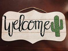 Door welcome sign cactus Arizona desert - Kaktus - Cactus Classroom Design, Future Classroom, Classroom Themes, Cactus Decor, Cactus Cactus, Cactus Flower, My New Room, First Home, Home Projects