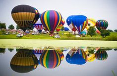 COLORFUL RIDE .....to the Buffalo Trace Balloon Race in Maysville, KY