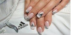 adidas nails :O