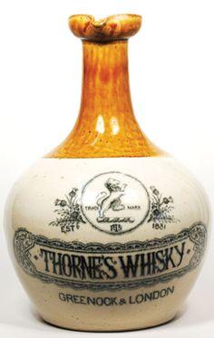 Whiskey Drinks, Scotch Whiskey, Bourbon Whiskey, Old Bottles, Liquor Bottles, Glass Bottles, Whisky Club, Oldest Whiskey, Ceramic Jars