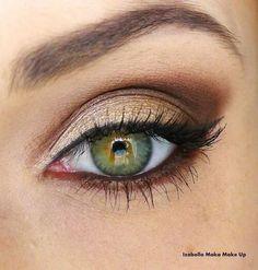 Maquillaje de ojos tonos tierra