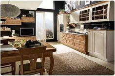Cucina classica - Cucine bicolore nelle varie essenze del legno.
