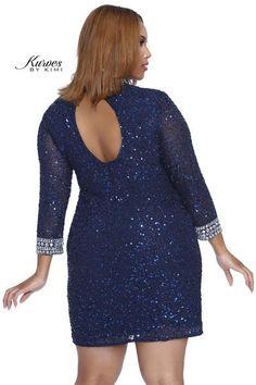 kurves by kimi Brilliant Nights Navy Cocktail Dress 71039#dressoftheday #prom #ootd #shailkusa #fashion