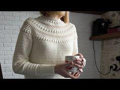 Crochet Sweater Pattern, Sweater Top Down, Pdf Pattern, Stroll Sweater, Sizes: xs-s-m-l-xl-xxl - Örgü modelleri - Crochet Jumper, Crochet Cardigan Pattern, Crochet Blouse, Crochet Patterns, Front Post Double Crochet, Jumper Patterns, Crochet Woman, Crochet Clothes, Pulls