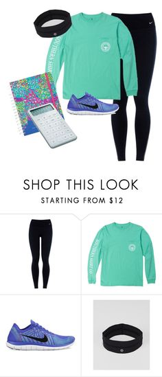 """""""Going to take a math test"""" by mylifeasjulia ❤ liked on Polyvore featuring NIKE, lululemon, Lilly Pulitzer, women's clothing, women, female, woman, misses and juniors"""