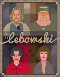 """Poster concept for cult film """"The Big Lebowski"""""""