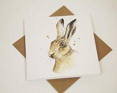 British inspired art prints and greeting cards by MelanieSkeltonArt British Wildlife, Wildlife Art, Beautiful Notebooks, Hare, Wall Art Prints, Giclee Print, Birthday Cards, Moose Art, Stationery