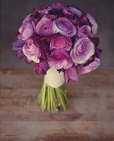 purple ranunculus... again, purple bouquet is not too common but exquisitely charming in the right shades...