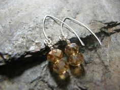 Sterling Silver and Crystal Rondelle Earings by Blackberrygardens, $20.00