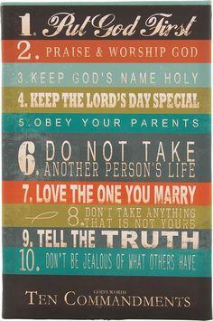10 Commandments for Teens | Carpentree