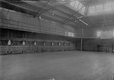 """""""The Gymnasium"""" - The first home basketball court used by the Kentucky Wildcats men's basketball team in 1902"""
