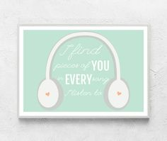 Valentines day print Love gift for boyfriend music by ColourMoon, $12.00