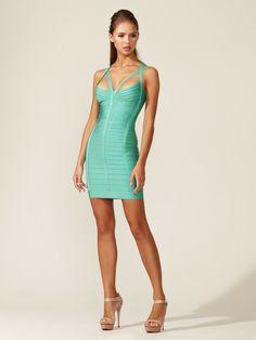 Julianna T-Back Dress by Herve Leger on Gilt.com